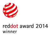winnaar van de Red Dot Award 2014