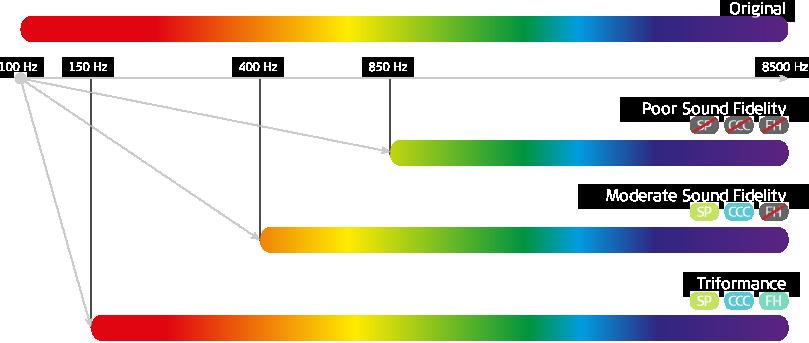 skala dźwięków − wypełniony ślimak i triformance